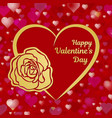 happy valentines day greeting card or banner a vector image