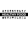 healthy food minimal infographic banner vector image vector image