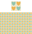 Hearts Geometric Pattern Swatch vector image vector image