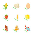 intolerance food icons set isometric style vector image