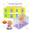 Kindergarten in Flat vector image