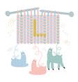 knitting needles from llama wool vector image vector image