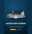 language trip tour travel to germany learning vector image