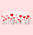 love valentine s banner with hearts vector image vector image