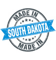 made in South Dakota blue round vintage stamp vector image vector image