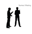 man in Business Meeting pose vector image vector image