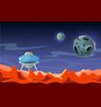 mars landscape colonization alien space vector image