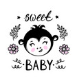monkey sweet bacartoon clip art vector image