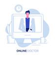 online doctor 1 vector image vector image