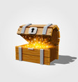 open chest with gold vector image vector image