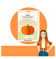 pack of pumpkin seeds vector image vector image