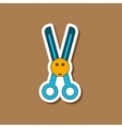 paper sticker on stylish background Kids toy vector image vector image