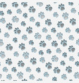 pet paws seamless pattern vector image vector image