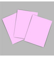 pink paper vector image vector image