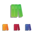 Row of binders office folders icon Colorfull vector image vector image