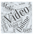 Safe Ways to Make Your Own Online Videos Word vector image vector image