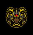 samurai rat mascot logo vector image vector image