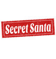 secret santa sign or stamp vector image