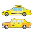 set car taxi service side view yellow vehicle vector image vector image