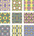 Set of multicolored abstract ornament seamless pat vector image vector image