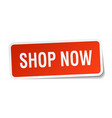 Shop now square sticker on white