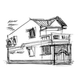 sketch of house vector image vector image