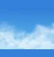 sky and clouds blue realistic cloudy background vector image