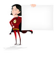 super hero woman banner vector image