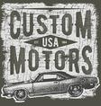 T-shirt typography design retro car printing vector image vector image