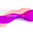 trendy bright gradient colors with abstract fluid vector image vector image
