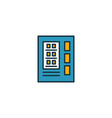 vending machine outline icon thin style design vector image vector image