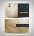 vintage business-card front and back vector image vector image