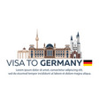 visa to germany travel to germany document for vector image