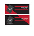 voucher template with premium vintage pattern vector image