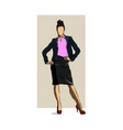women standing cartoon character business vector image