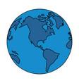 world map international globe cartoon vector image vector image