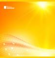yellow futuristic background vector image