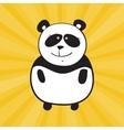 smile panda vector image