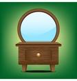 Wooden mirror cabinet vector image