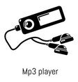 mp3 player icon simple black style vector image