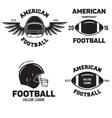 Retro Vintage American Football emblems set logos vector image