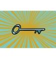 Vintage door key vector image