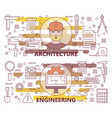 set of modern thin line architecture and vector image