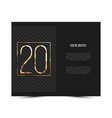 20th anniversary invitation card template vector image