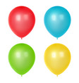 3d realistic colorful balloons birthday balloons vector image