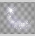a bright comet with large dust vector image vector image