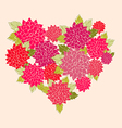 A flower heart vector | Price: 1 Credit (USD $1)