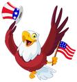 american patriotic eagle vector image vector image