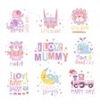 Baby Nursery Room Print Design Templates vector image