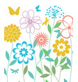 background with spring flowers vector image